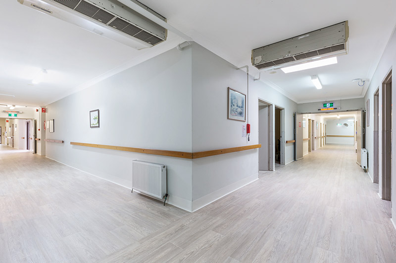willandra aged care facility corridor