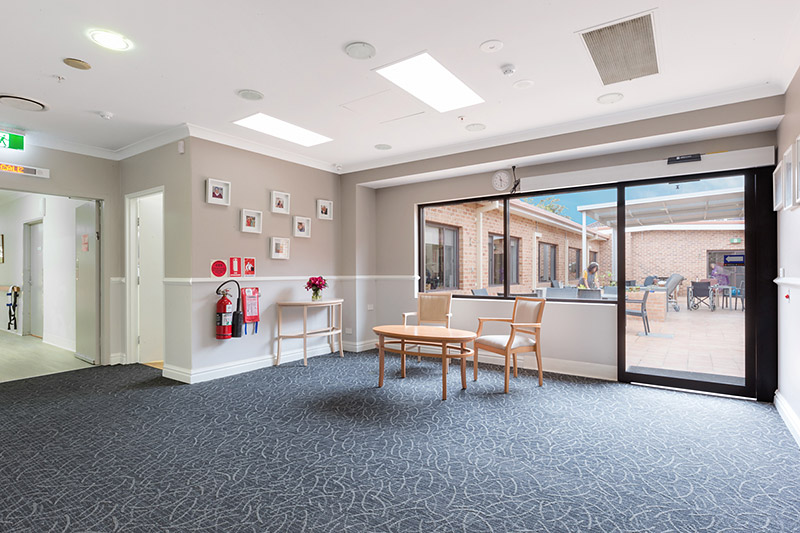 willandra aged care facility foyer